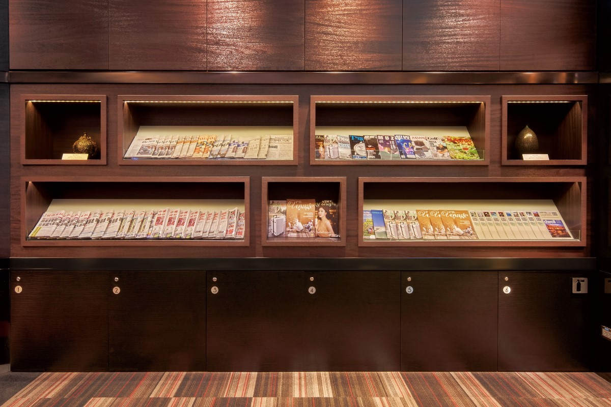 Books and Magazines in The Club Lounge