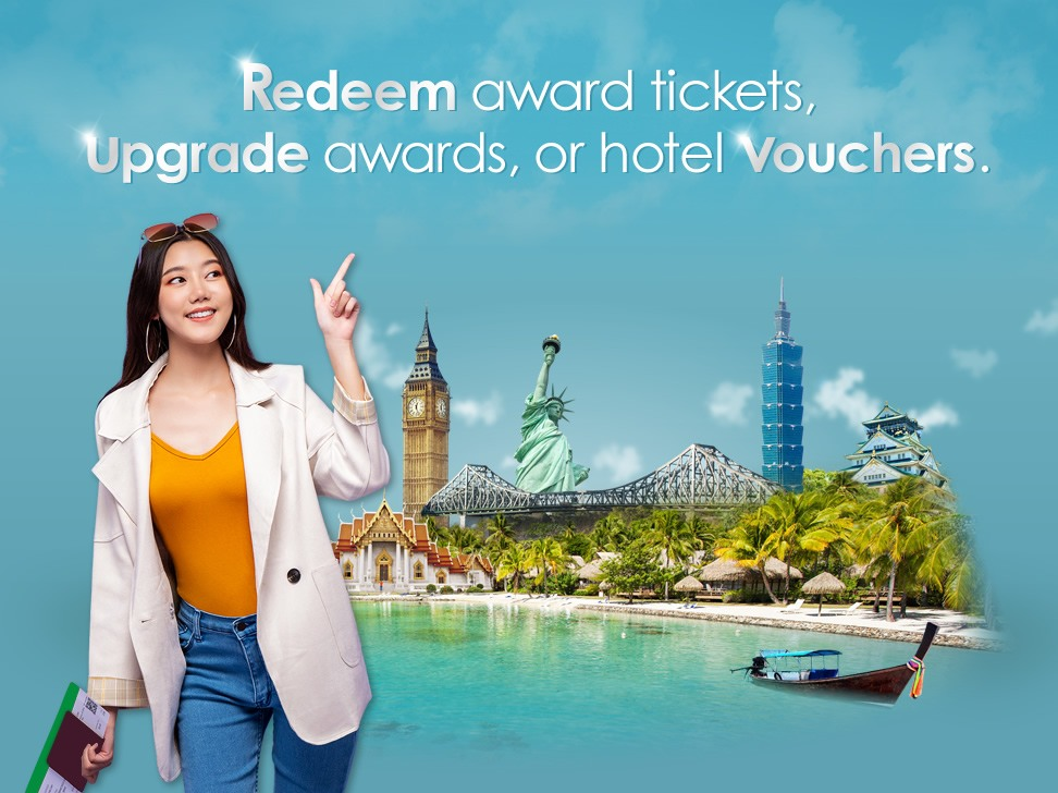 redeem award tickets upgrade awards, or hotel vouchers image