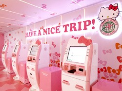 EVA Air Hello Kitty Kiosk
